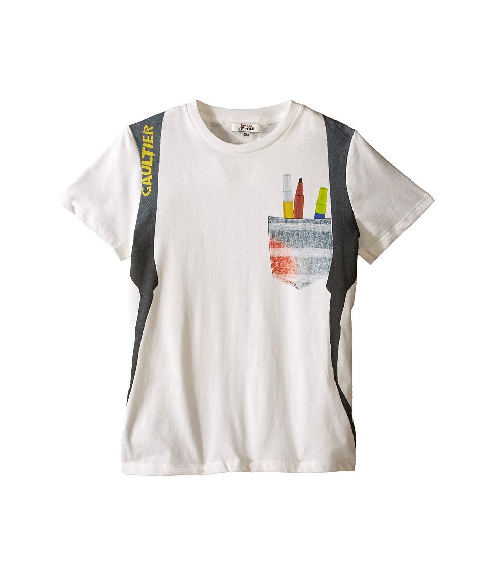 Junior Gaultier Sidali Backpack T Shirt Big Kid Black Boys T Shirt
