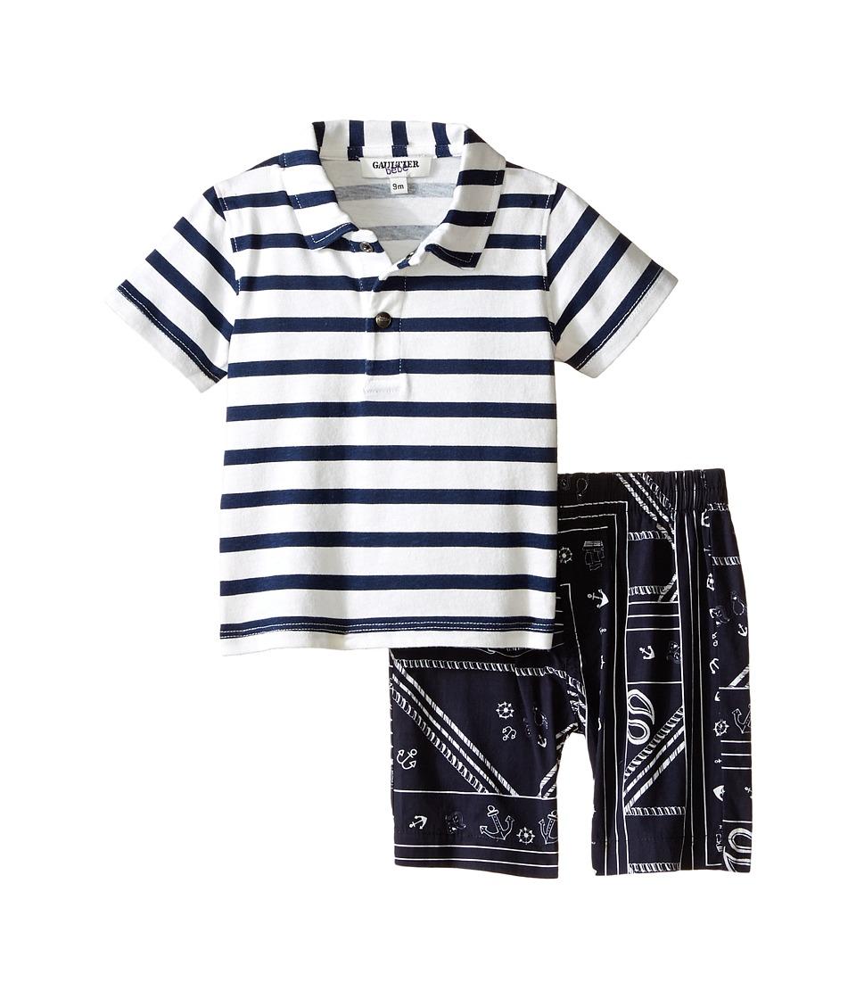 Junior Gaultier Segundo Two Piece Set Infant/Toddler Marine Blue Boys Active Sets