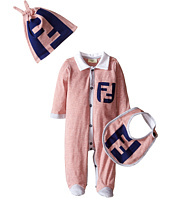Fendi Kids - Striped Footie/Hat/Bib Gift Set w/ Logo (Infant)