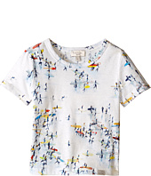 Paul Smith Junior - All Over Surfers On Beach Print Tee Shirt (Toddler/Little Kids)