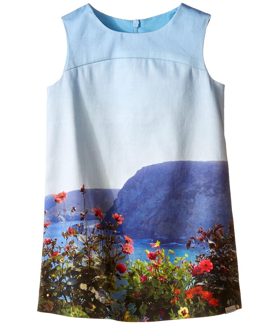 Paul Smith Junior Landscape Dress Toddler/Little Kids Turquoise Girls Dress
