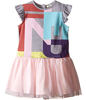 Fendi Kids - Short Sleeve Dress w/ Graphic Logo & Tulle Skirt (Infant)