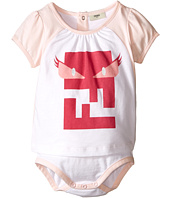 Fendi Kids - Short Sleeve Body Tee with Monster Logo (Infant)