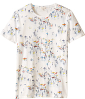Paul Smith Junior - All Over Surfers On Beach Print Tee Shirt (Big Kids)