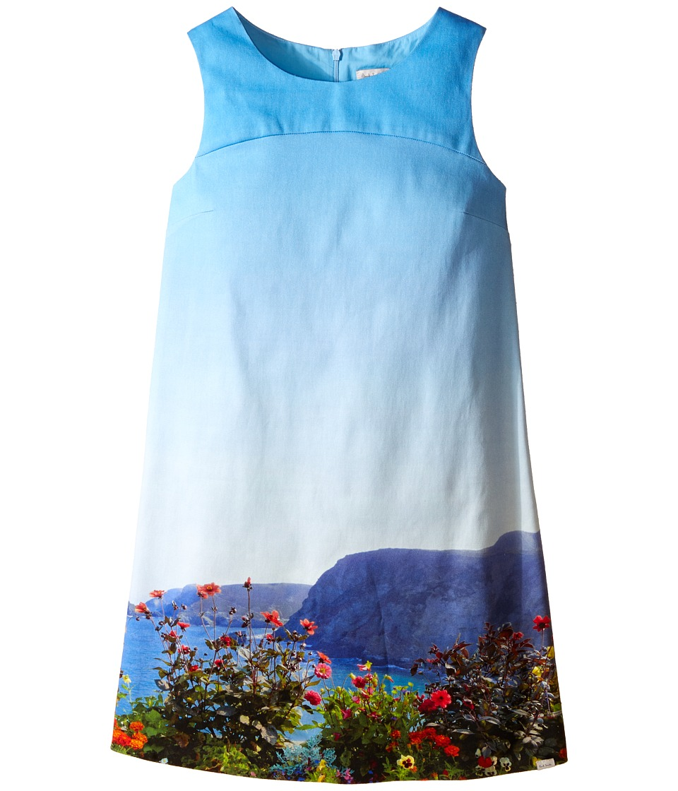 Paul Smith Junior Landscape Dress Big Kids Turquoise Girls Dress