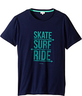 Paul Smith Junior - Skate Surf Ride Print Tee Shirt (Big Kids)