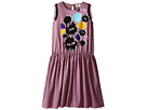 Fendi Kids Striped Dress with Monster Graphic (Big Kids)