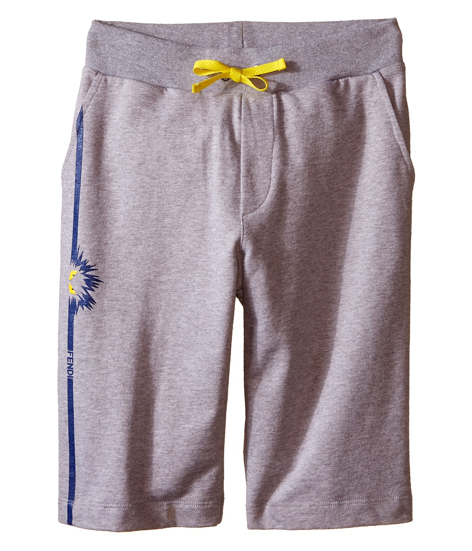 Fendi Kids Sweat Shorts with Monster Detail Big Kids Grey Boys Shorts