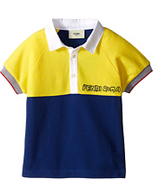 Fendi Kids - Short Sleeve Two-Tone Polo Shirt (Toddler)