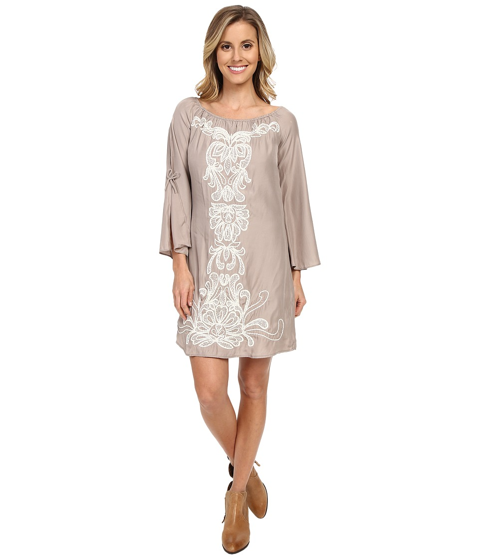 Union of Angels Barbara Dress Taupe/White Womens Dress