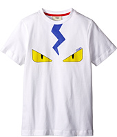 Fendi Kids - Short Sleeve T-Shirt with Eyes (Big Kids)