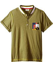 Fendi Kids - Short Sleeve Polo T-Shirt w/ Multicolor Logo Pocket (Big Kids)