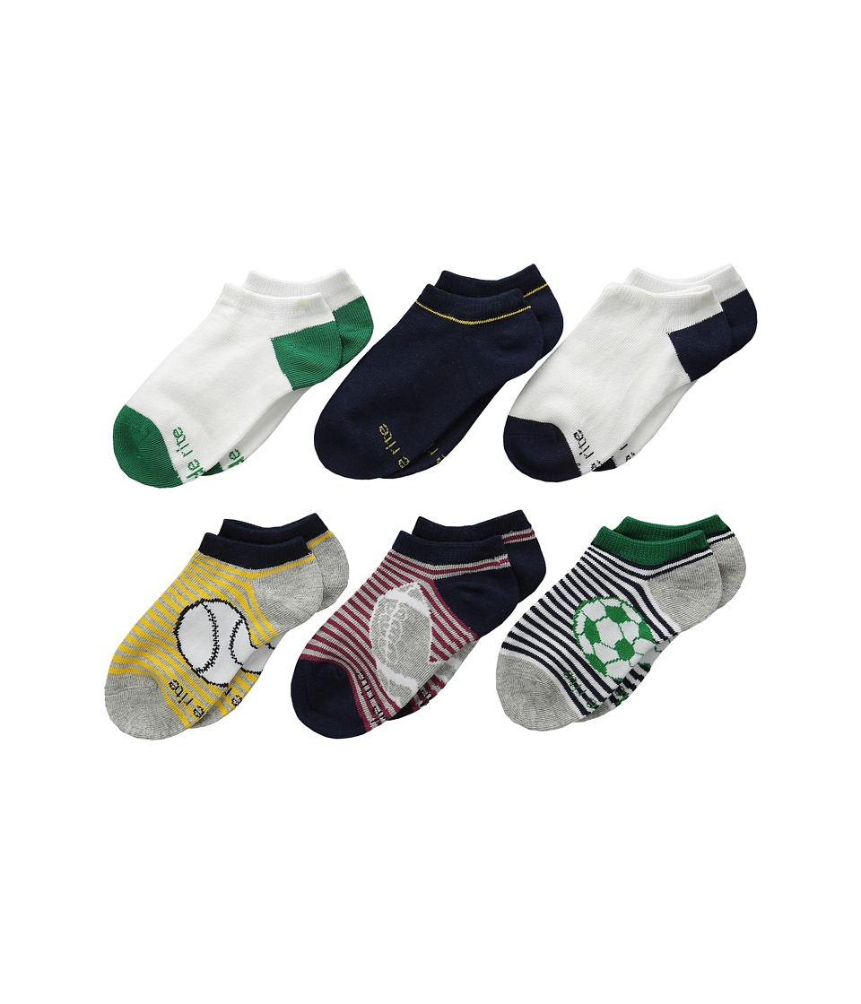 Stride Rite 12 Pack Nolan Numbers No Show with Seamless Toe Infant/Toddler/Little Kid/Big Kid Red Boys Shoes
