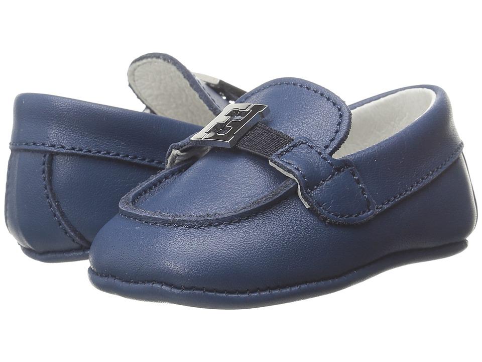 Fendi Kids Shoes with Logo Detail Infant Blue Boys Shoes