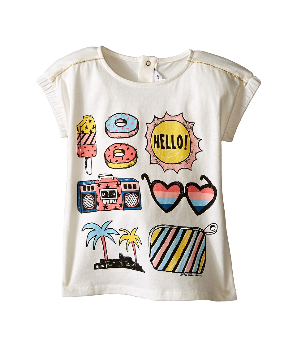 Little Marc Jacobs - Jersey Tee Shirt with Mouse or Beach Supplies