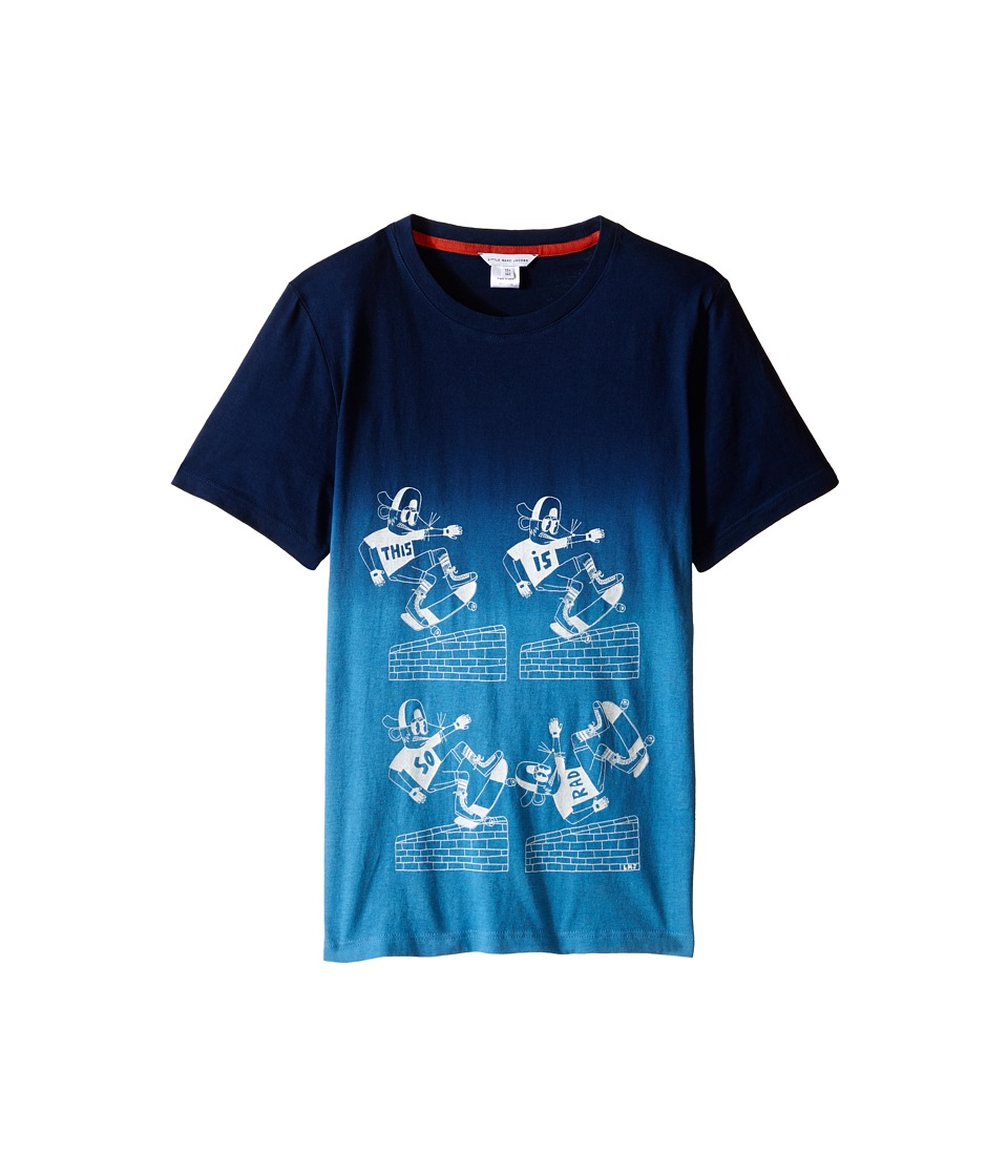 Little Marc Jacobs Jersey Tee Shirt Dip Dye Big Kids Dark Blue Boys T Shirt