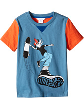 Little Marc Jacobs - Jersey Tee Shirt Fancy Crocodile On Front (Toddler/Little Kids)