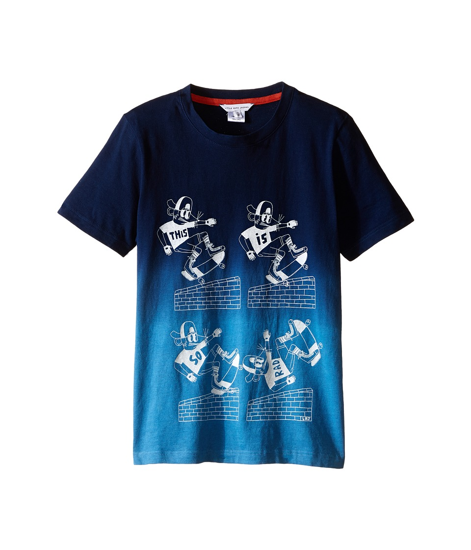 Little Marc Jacobs Jersey Tee Shirt Dip Dye Little Kids/Big Kids Dark Blue Boys T Shirt