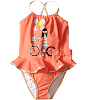 Little Marc Jacobs - Ms. Marc Graphic Swimsuit with Ruffle (Infant/Toddler)