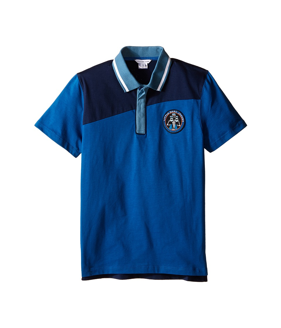 Little Marc Jacobs Jersey Polo Shirt Big Kids Dark Blue Boys Clothing