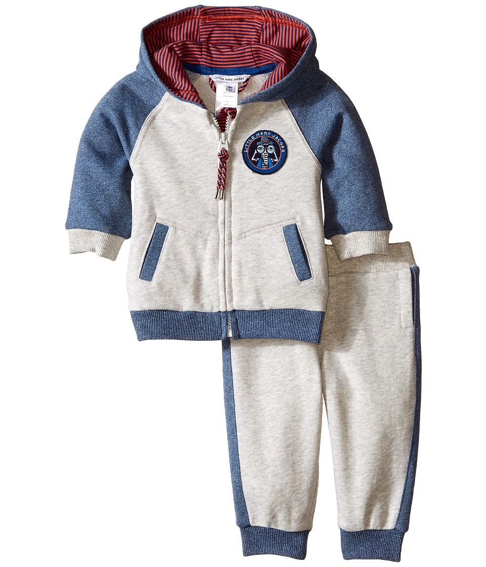 Little Marc Jacobs Set of Fleece Jogging Grey and Blue Infant Light Grey Boys Clothing