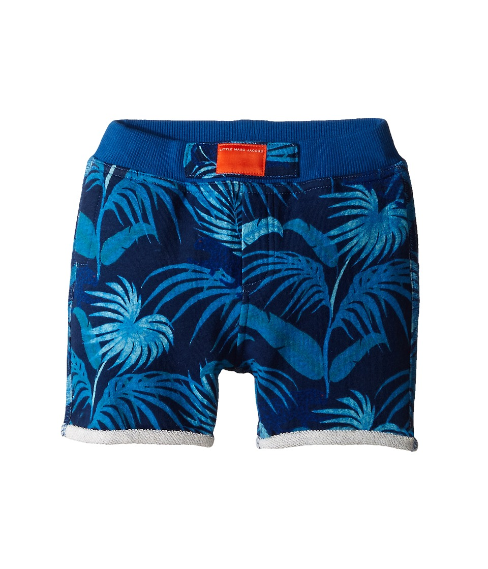 Little Marc Jacobs Fleece Shorts All Over Printed Infant Blue Boys Shorts
