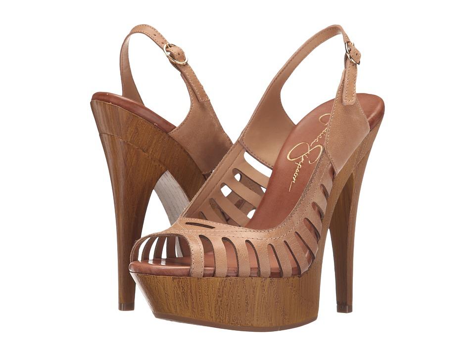Jessica Simpson Finch Buff Ruby Tumbled High Heels
