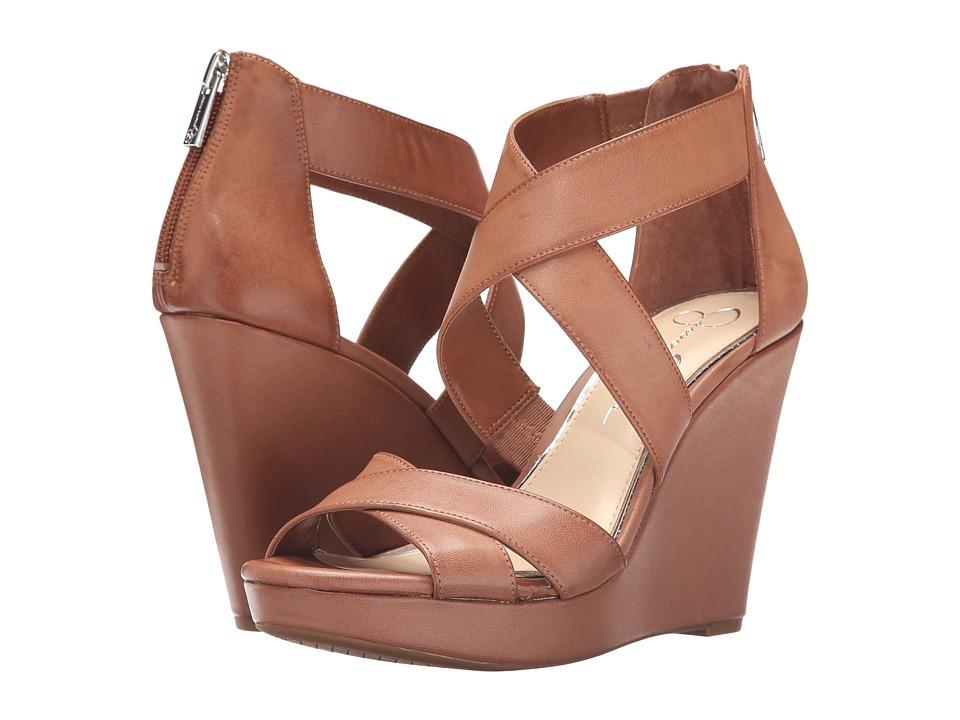 Jessica Simpson Jadyn Light Luggage Veg Vachatta Womens Wedge Shoes