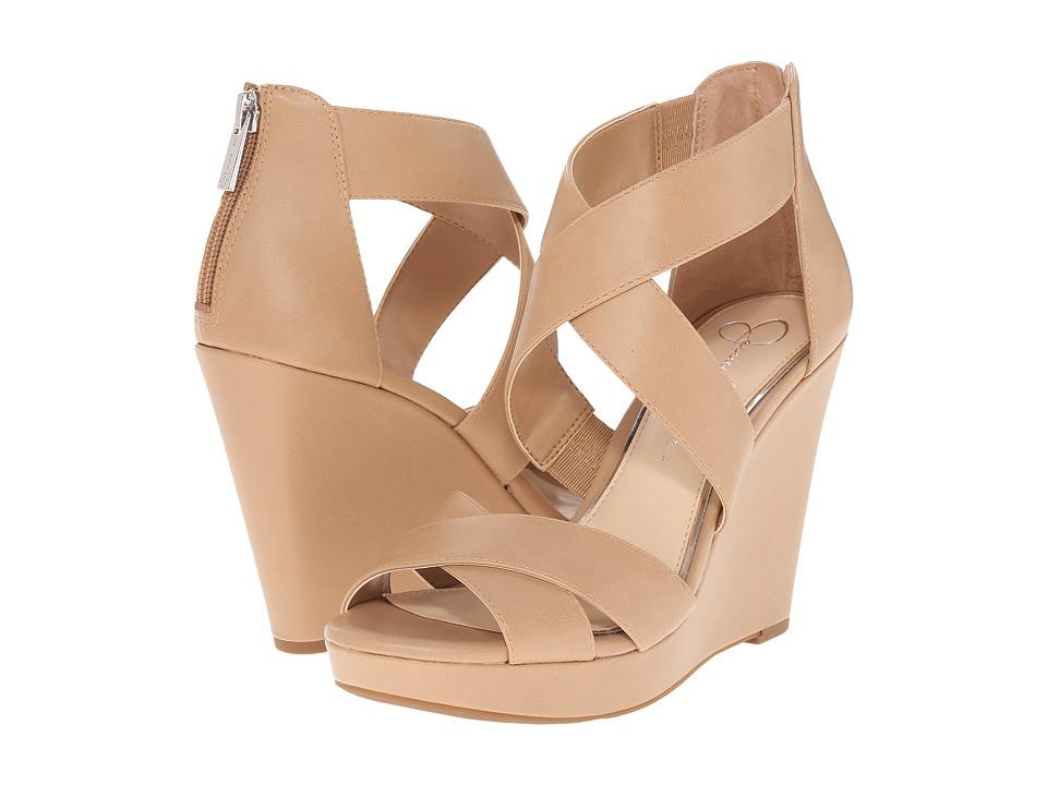Jessica Simpson Jadyn Ambra Ruby Tumbled Womens Wedge Shoes