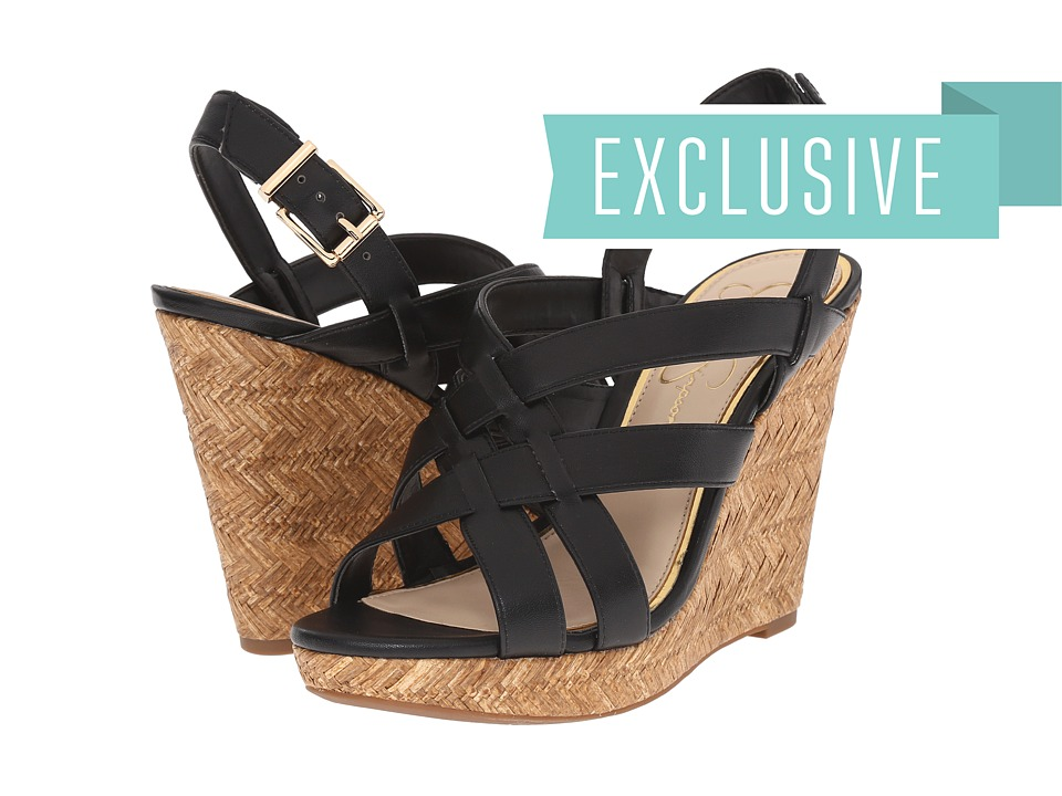 Jessica Simpson Jaime Black Sleek Womens Wedge Shoes