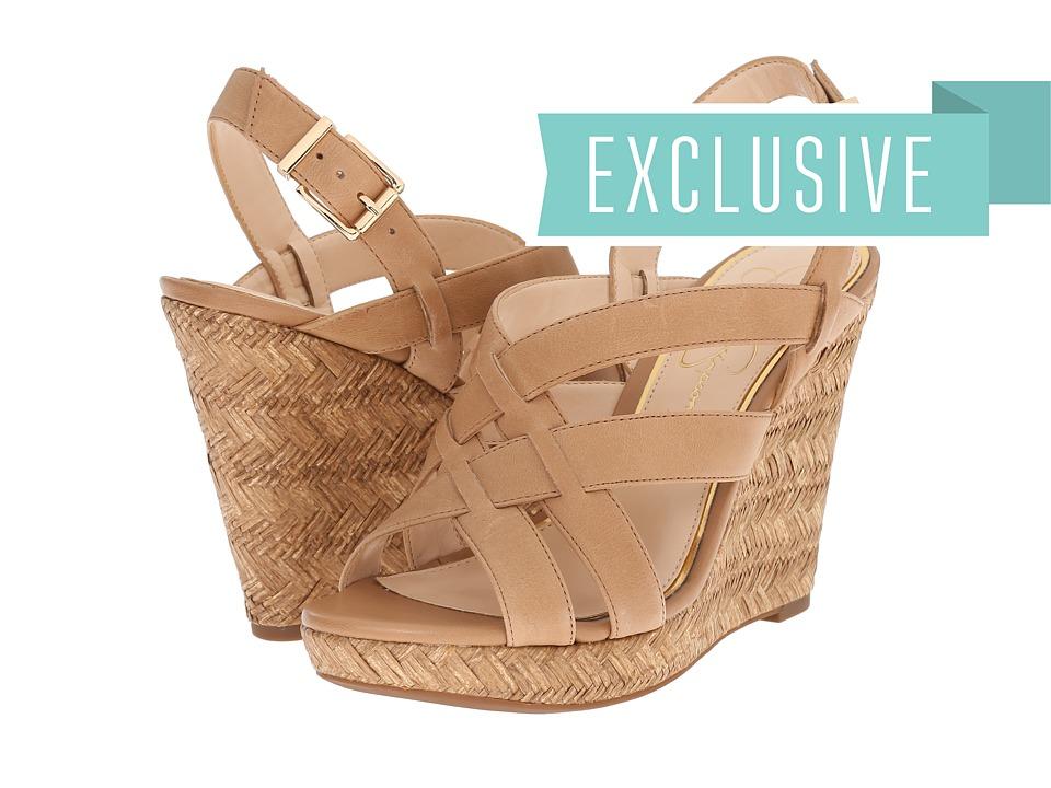 Jessica Simpson Jaime Buff Ruby Tumbled Womens Wedge Shoes