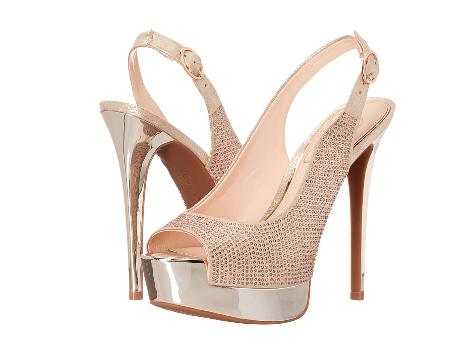 Jessica Simpson Kabale Pale Gold Dusty Metallic High Heels