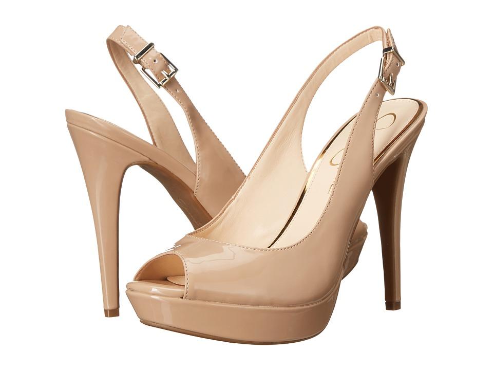 Jessica Simpson Kiren Nude Patent High Heels