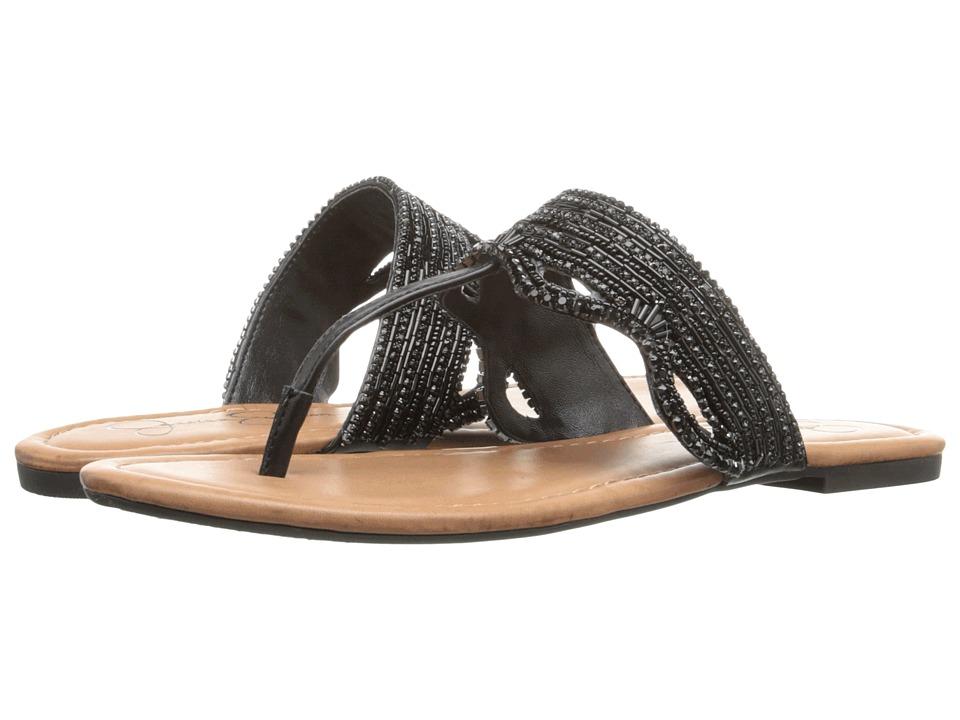 Jessica Simpson Randle Black Veg Vachetta Womens Shoes