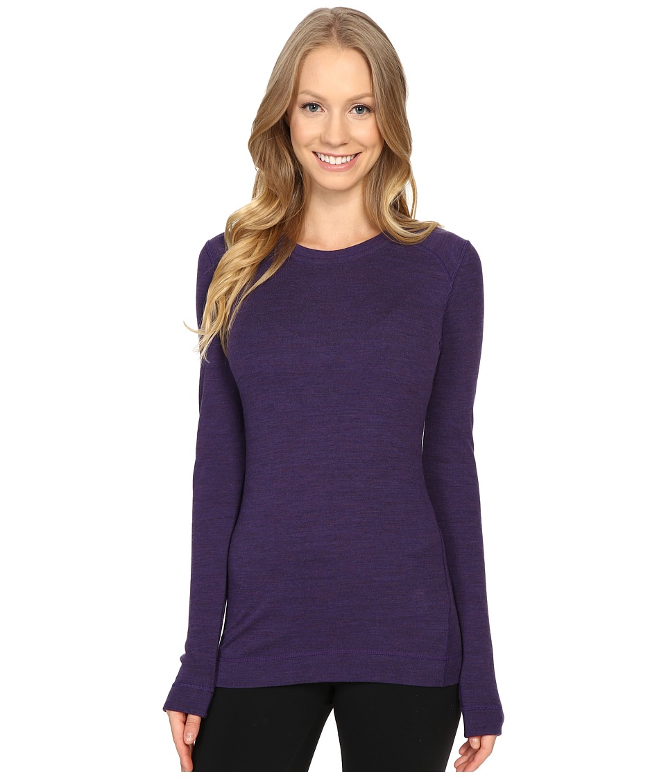 Smartwool - NTS Mid 250 Crew Top (Mountain Purple) Womens Long Sleeve Pullover