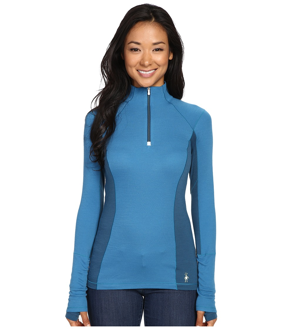 Smartwool PhD Light Zip T (Glacial Blue) Women