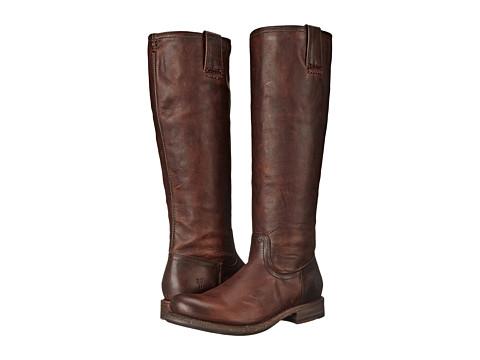 Frye Jenna Inside Zip - Dark Brown Full Grain Leather