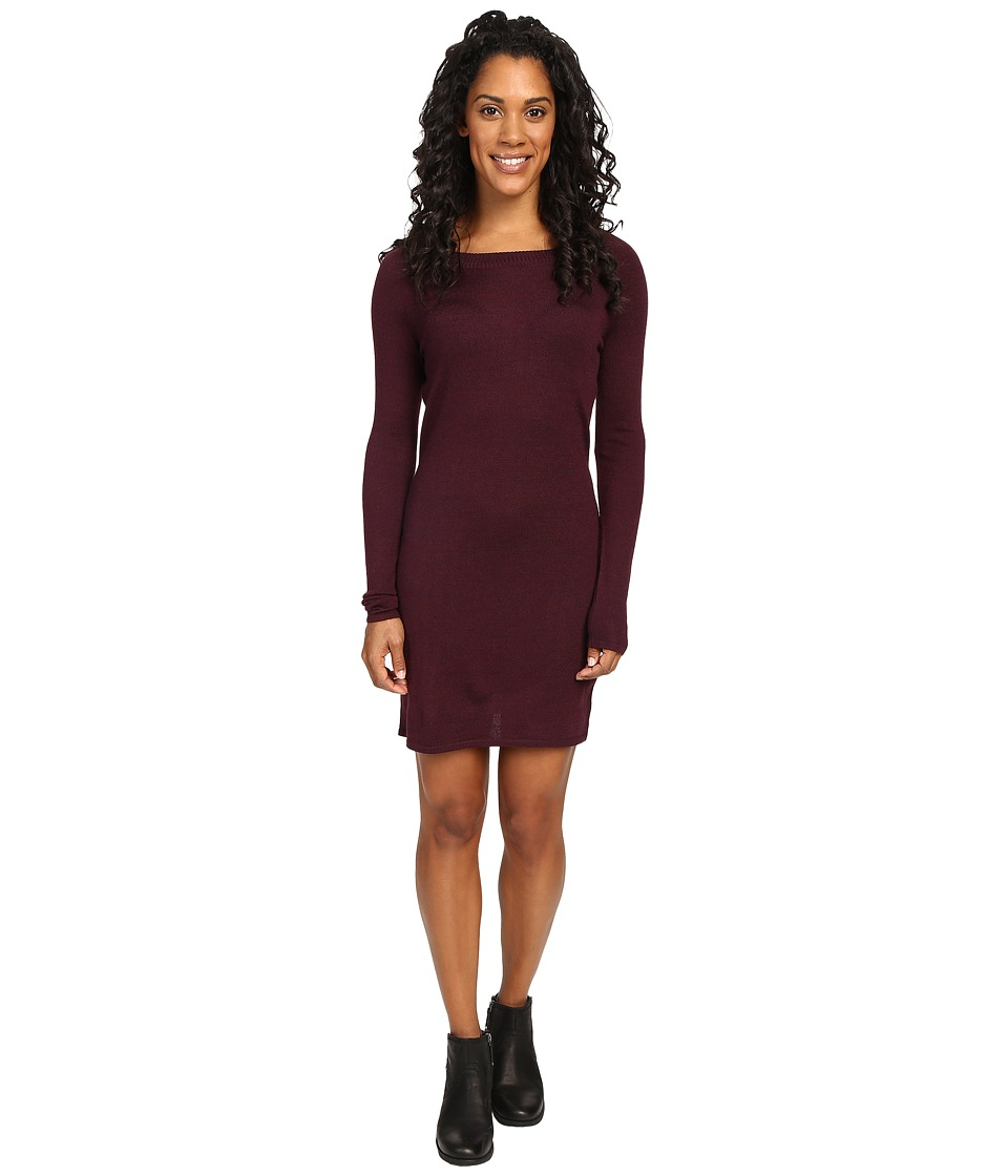Smartwool Camp House Solid Dress (Aubergine Heather) Women