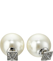Rebecca Minkoff - Pyramid Pearl Back Earrings