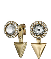 Rebecca Minkoff - Inverted Crystal Front Back Earrings