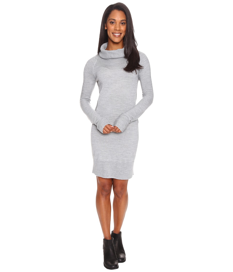 Smartwool Granite Falls Sweater Dress (Silver Gray Heather) Women