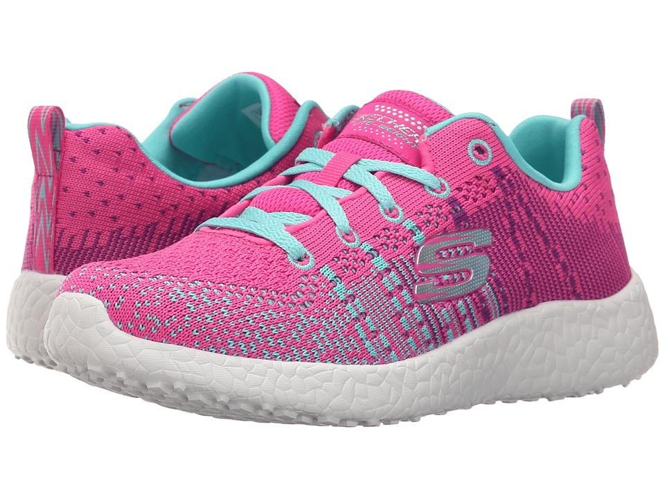 SKECHERS KIDS Energy Burst Ellipse 81908L Little Kid/Big Kid Neon Pink/Turquoise Girls Shoes