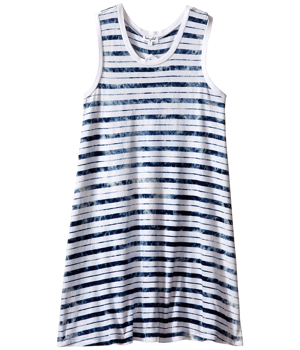 Splendid Littles Indigo Tie Dye Yarn Dye Dress Big Kids Stripe Girls Dress
