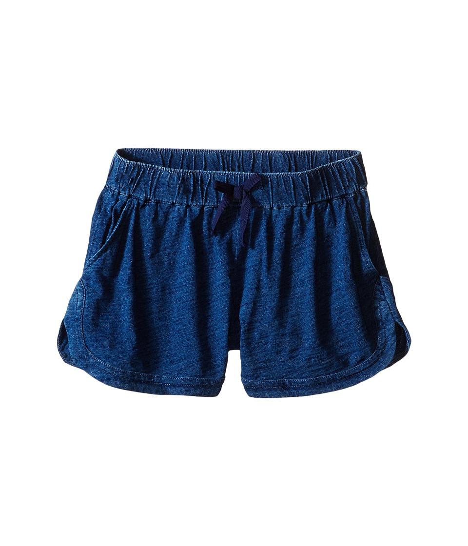 Splendid Littles Indigo Solid Yarn Dye Shorts Big Kids Medium Stone Girls Shorts