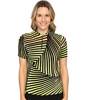 Jamie Sadock - Twister Print Crunchy Short Sleeve Top