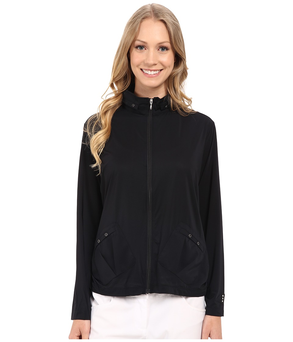 Jamie Sadock Sunsence Lightweight Jacket with 30 SPF Jet Black Womens Coat
