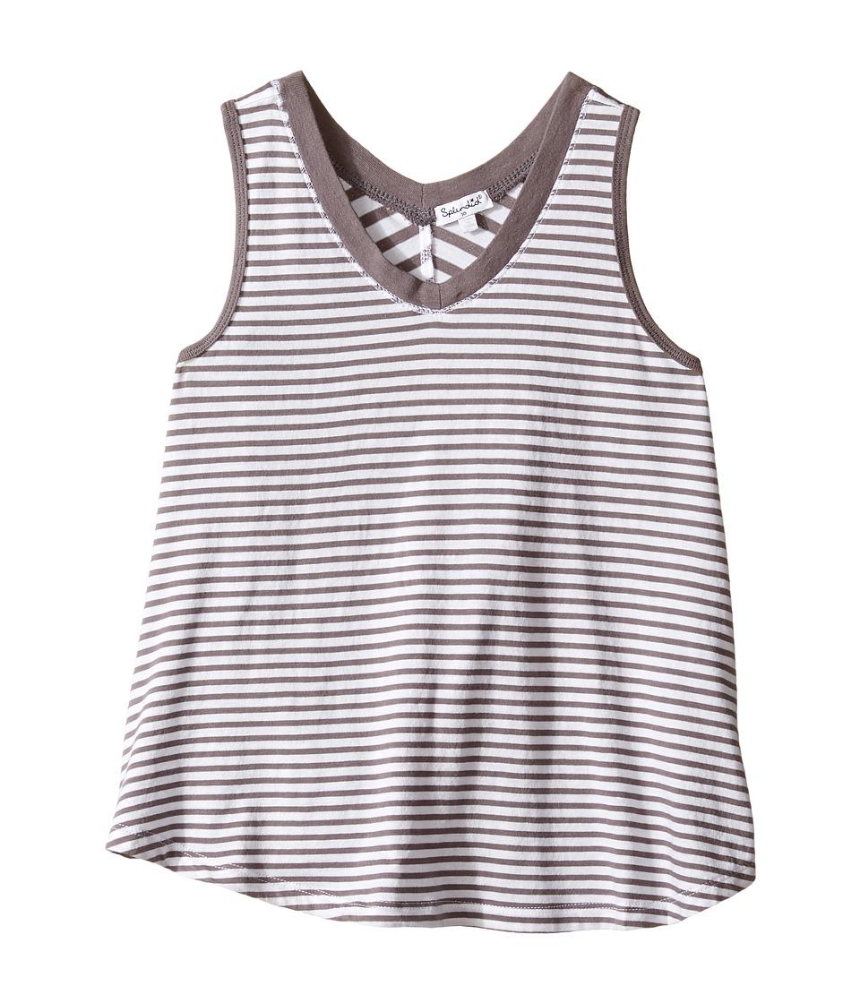 Splendid Littles Striped Tank Top Big Kids Dark Grey Girls Sleeveless