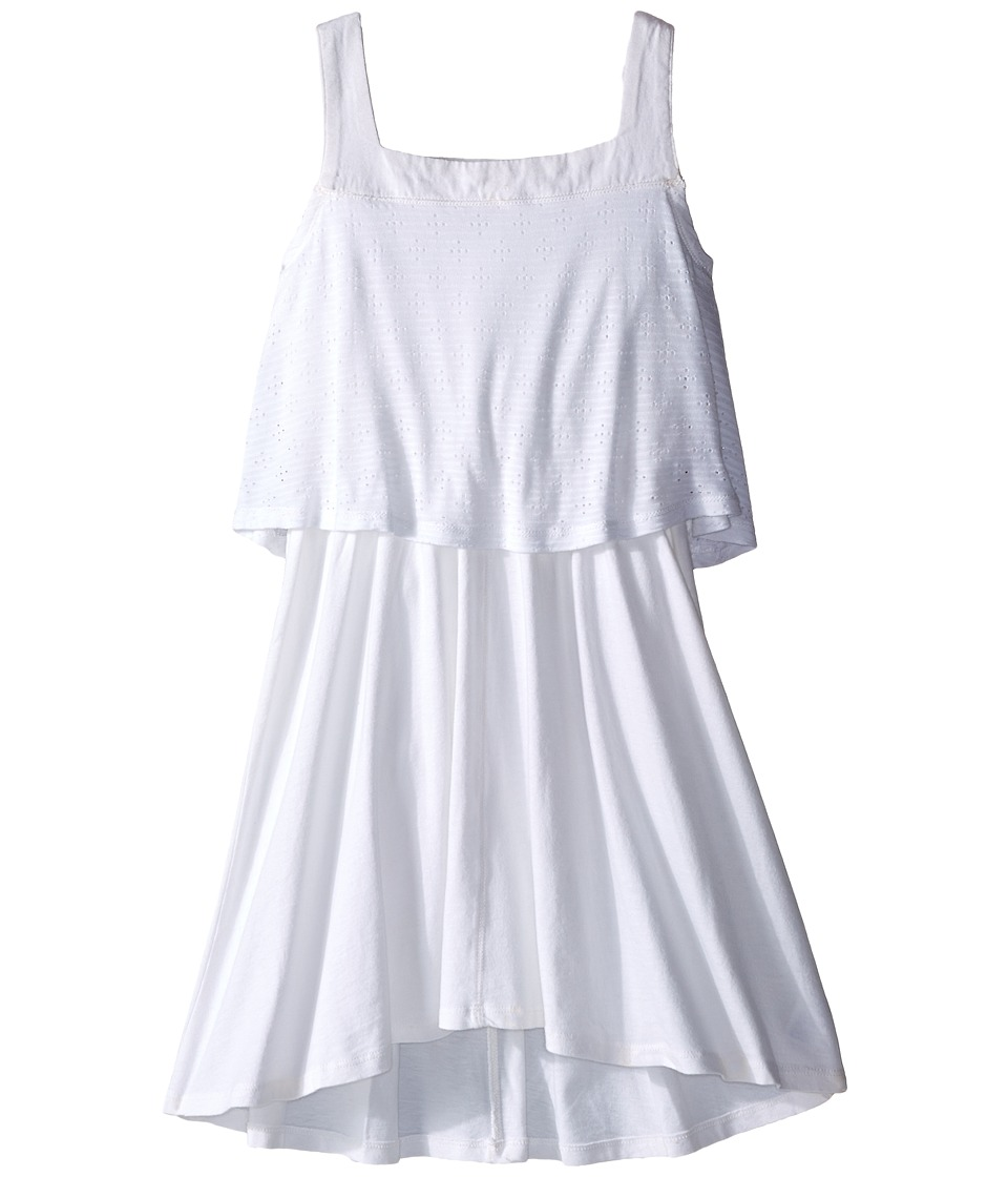 Splendid Littles Eyelet Tank Dress Big Kids White Girls Dress