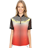 Jamie Sadock - Techno Dots Short Sleeve Top with Mesh Panel at Back Shoulders