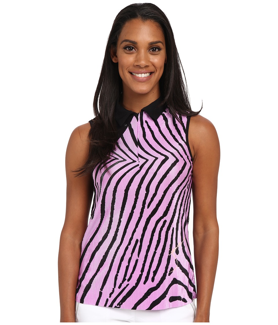 Jamie Sadock Blow Fish Print Crunchy Sleeveless Top Amour Lavender and Black Womens Sleeveless